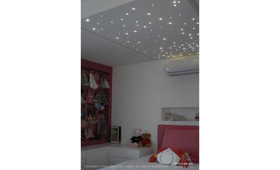 Céu Estrelado com Fibra Ótica - Dormitório Adolescente