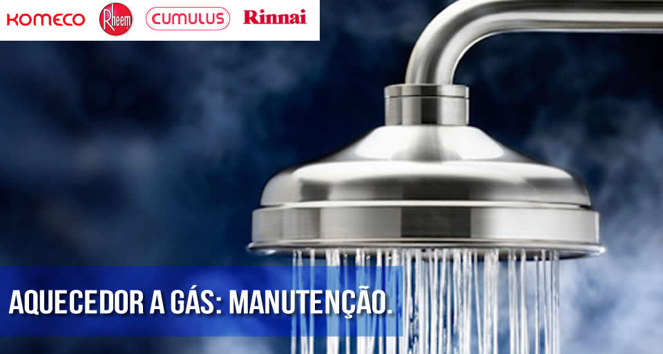 Manutenção de aquecedores a gás.