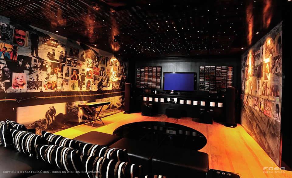 Céu Estrelado com Fibra Ótica - Home Theater