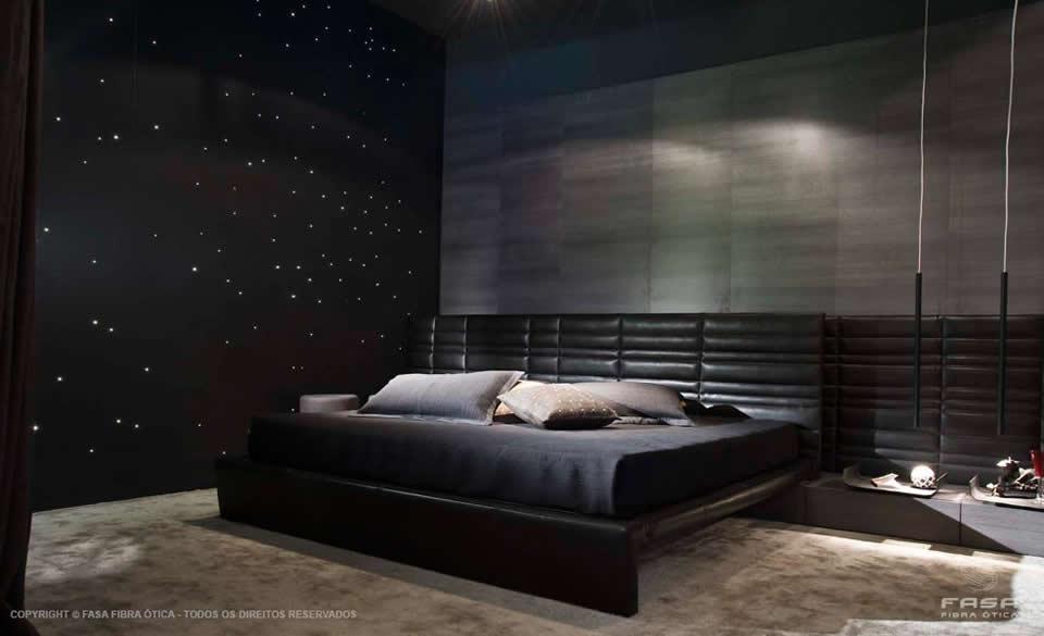 Céu Estrelado com Fibra Ótica - Parede do quarto